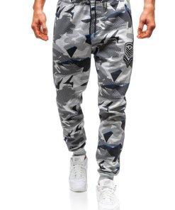 Pantaloni jogger sportivi pentru barbati grafit Bolf Q3850