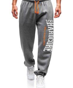 Pantaloni jogger sportivi pentru barbati grafit Bolf Q3238