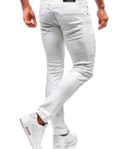 Jeansi barbati alb Bolf 4020