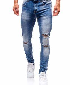Jeansi barbati albastri Bolf 3943