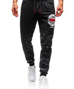 Pantaloni de trening barbati negri Bolf 300128