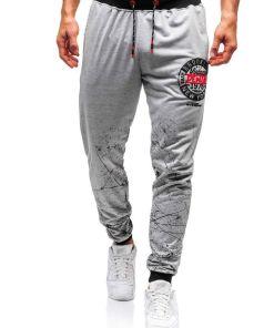 Pantaloni de trening barbati gri Bolf 300128