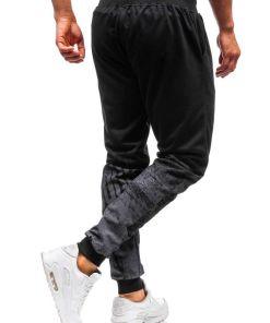Pantaloni de trening barbati negri Bolf 300129