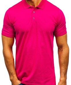 Tricou polo barbati roz-inchis Bolf 9025