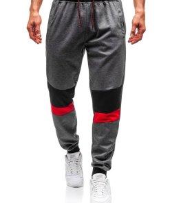 Pantaloni de trening joggers barbati grafit Bolf 35002
