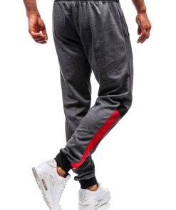 Pantaloni de trening joggers barbati grafit Bolf 35001