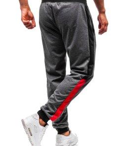 Pantaloni de trening joggers barbati grafit Bolf 35005