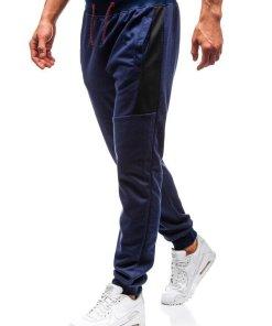 Pantaloni de trening joggers barbati bleumarin Bolf 35006