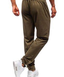 Pantaloni de trening barbati kaki Bolf MK05
