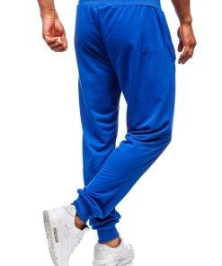 Pantaloni de trening barbati albastru Bolf MK05
