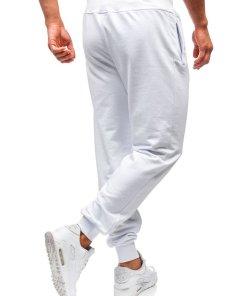 Pantaloni de trening barbati albi Bolf 145364