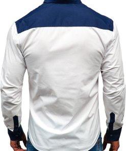 Camasa barbati cu maneca lunga alb Bolf 5729-A