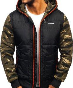 Geaca sport barbati negru-rosu Bolf 3756-A