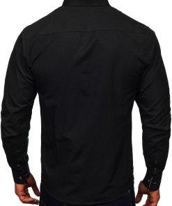 Camasa cu manea lunga barbati negru Bolf 5746-A