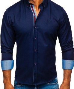 Camasa eleganta barbati bleumarin Bolf 5801-A