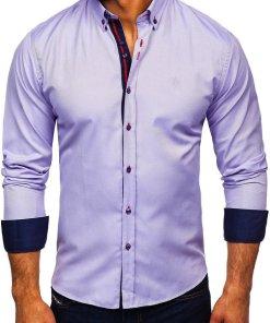 Camasa eleganta barbati violet Bolf 5801-A