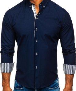Camasa eleganta barbati bleumarin Bolf 5796-1