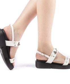 Sandale dama Libela albe