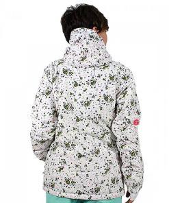 Jacheta Flake Print Outerwear Jacket white