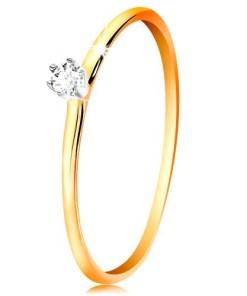 Bijuterii eshop - Inel din aur 585 - zirconiu în montur? din aur alba brate subtiri  GG201.24/30 - Marime inel: 49