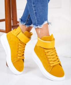 Pantofi dama sport textil galbeni Iusiri