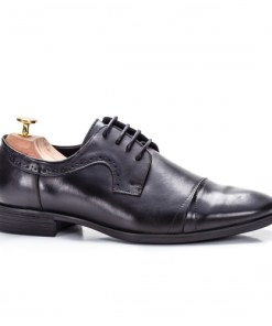 Pantofi eleganti barbati Piele naturala negri Garillew
