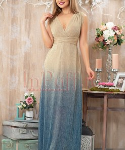 Rochie Pretty Girl de seara lunga din crepe in degrade