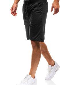 Pantaloni scurți sportivi pentru bărbat negri Bolf KK305
