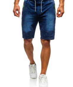 Pantaloni scurți denim bărbați bleumarin Bolf 5784