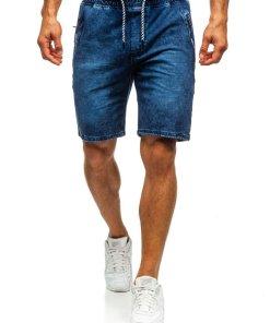 Pantaloni scurți denim bărbați bleumarin Bolf 5785