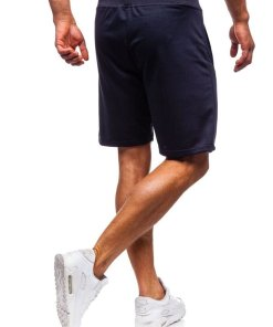Pantaloni scurți training bărbați bleumarin Bolf AA10-A
