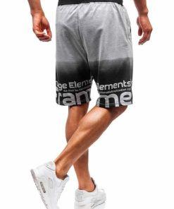 Pantaloni scurți training bărbați gri Bolf 300122-A