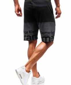 Pantaloni scurți training bărbați negru Bolf 300122-A