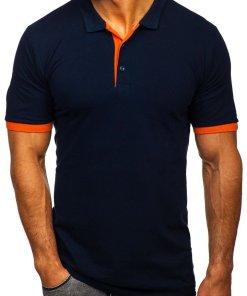 Tricou polo bărbați bleumarin Bolf 171222-1
