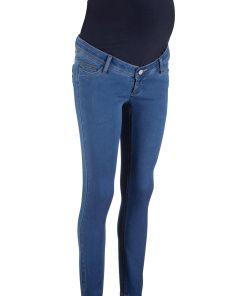 Blugi skinny de gravide cu super-stretch bonprix - albastru stone