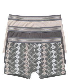 Boxer (3buc/pac) bonprix - gri imprimatagri-marosuni