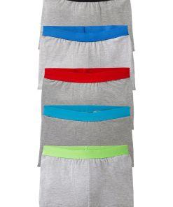 Chilot Boxer lunga bonprix - gri deschis marmorat colorat
