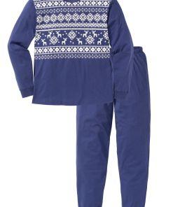 Pijama bonprix - marin-alb imprimat