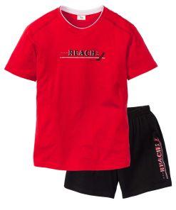 Pijama shorty bonprix - rosu/negru