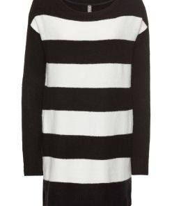 Pulover tricotatabonprix - negru/ecru