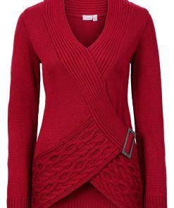 Pulover tricotatabonprix - rosu închis