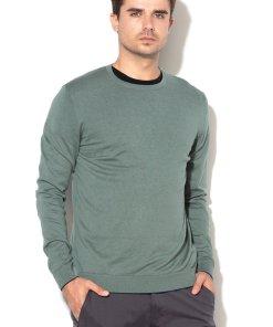 Pulover din tricot fin si amestec de matase 2146212