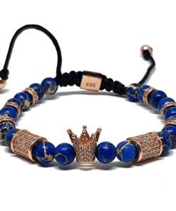 Bratara argint placat cu aur, AR Jewels & Diamonds, Rose