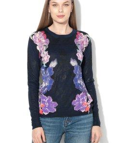 Pulover cu model floral Fara 1598223