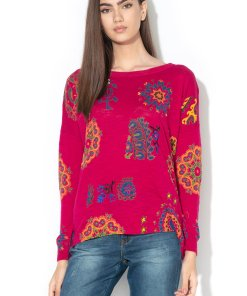 Pulover din tricot fin cu motive cu mandale Upper 2131210