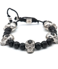 Bratara argint, skull collection, AR Jewels & Diamonds, ar2097