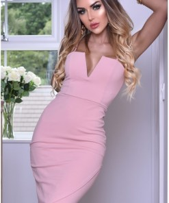 Rochie de seara mulata pe corp roze