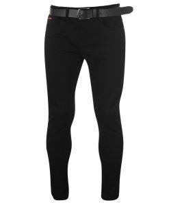 Blugi skinny fit Lee Cooper Belted Skinny Jeans Mens