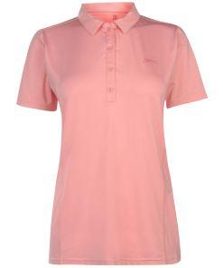 Haine femei Slazenger Plain Polo Shirt Ladies