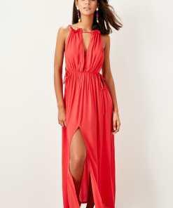 Rochie de plaja Trendyol Red Rope pendant Beach Dress